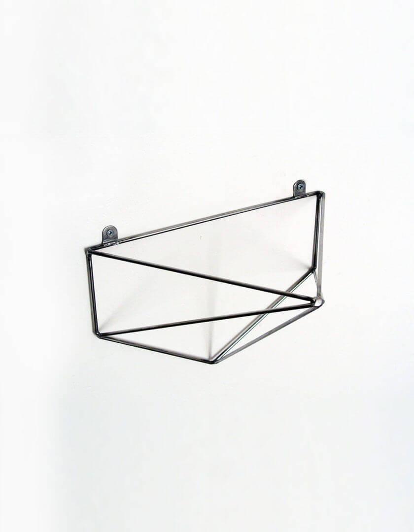 jeu de 2 querres bf 06 brut pour tag re g om trique minimaliste. Black Bedroom Furniture Sets. Home Design Ideas
