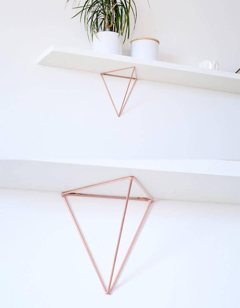 jeu de 2 querres bf 01 couleur cuivr pour tag re g om trique minimaliste. Black Bedroom Furniture Sets. Home Design Ideas