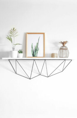 Support pour étagère murale | couleur noir,ref-BMF01,style minimaliste et design_06